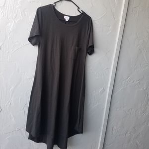 Lularoe Black carly shift dress large